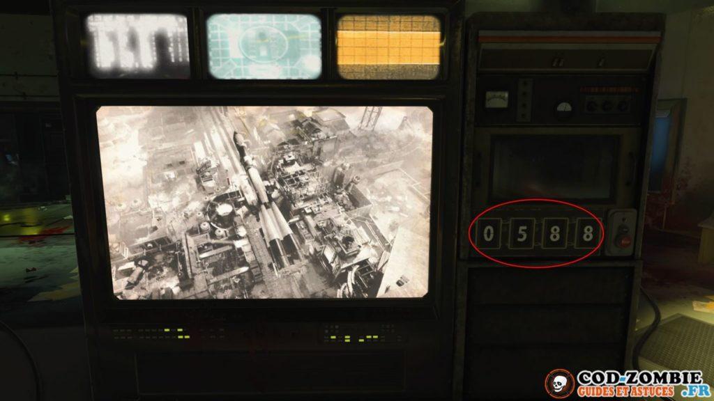 Il faut rentrer les 4 codes sur cette machine secret top secret