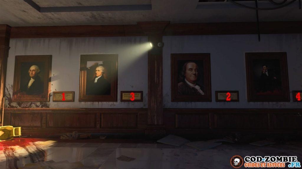 Il faut tirer dans un certain ordre sur les portraits secret top secret