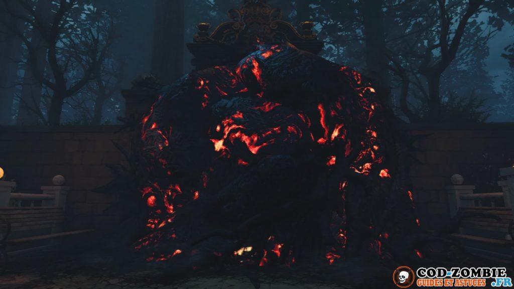 Rocher bloquant la forêt