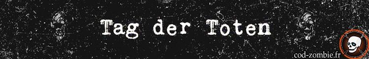 Bannière Tag der Toten black ops 4 zombie